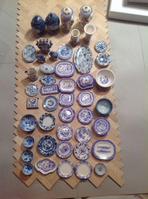 Blue & white miniatures