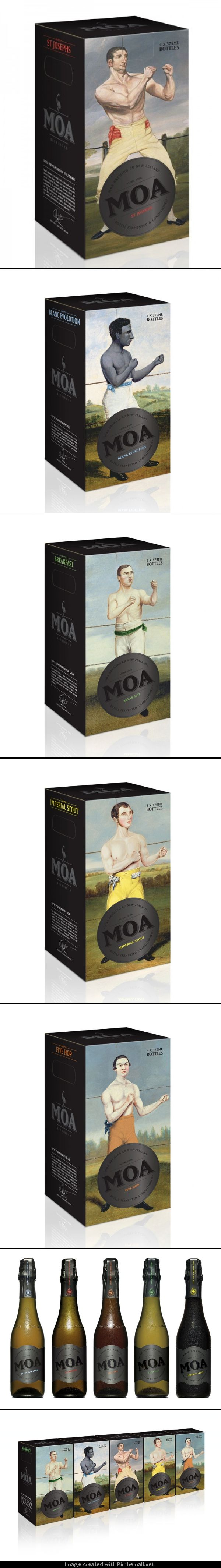 Great pics of #Olympic boxers on this #beer #packaging PD - created via http://www.ohbeautifulbeer.com/2011/10/moa-olympic-packaging/