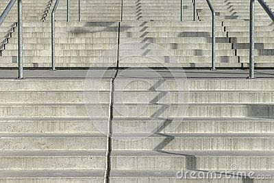 Concrete stairs , entrance to the Sports Hall Tauron arena in Krakow , Poland . In the time of autumn.