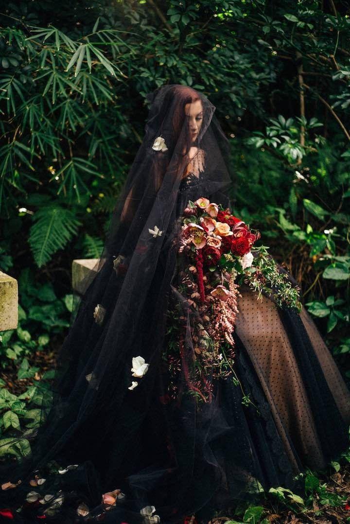 Striking wedding dress idea; photo: Natasja Kremers Photography