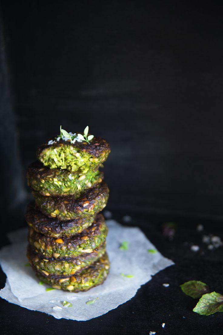 Super Green Pea & Sunflower Patties | Cashew Kitchen