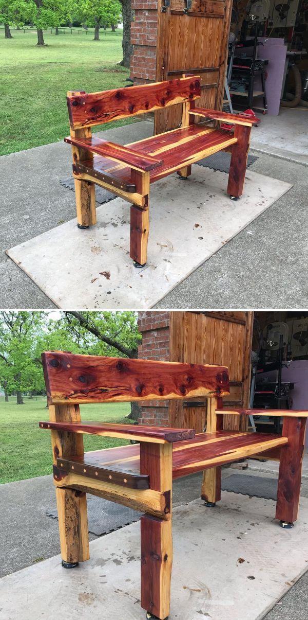Cedar Bench By Wayne Delyea At Wayne Delyea Furniture Maker Shop Cedar Bench Cedar Furniture Outdoor Furniture Makeover