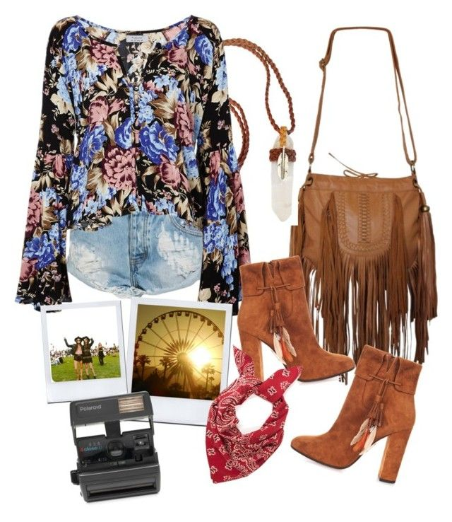 """""""Coachella vibes round 2"""" by neongypsynz on Polyvore featuring One Teaspoon, Aquazzura and Impossible"""
