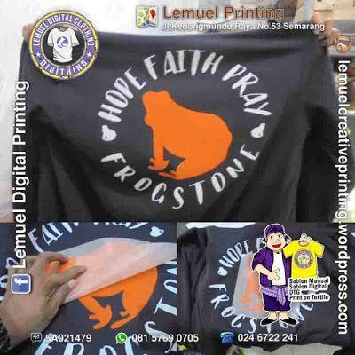 Custom Sablon Kaos Satuan Cutting PolyFlex Berkualitas By DIGITHING