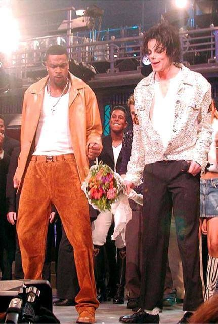 Chris Tucker with Michael Jackson at the 30th Anniversary Show at Madison Square Garden