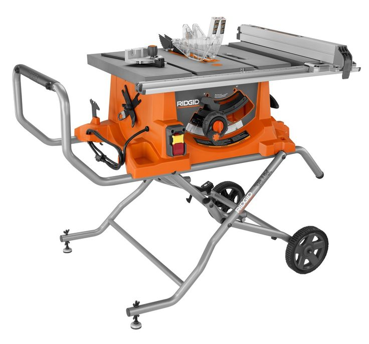 "Heavy Duty 10"" Portable Table Saw With Stand - RIDGID Professional Tools"