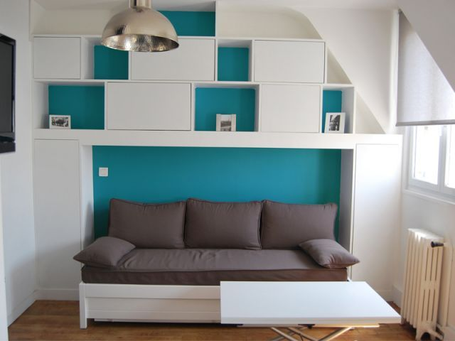 77 best petits espaces images on pinterest spaces. Black Bedroom Furniture Sets. Home Design Ideas