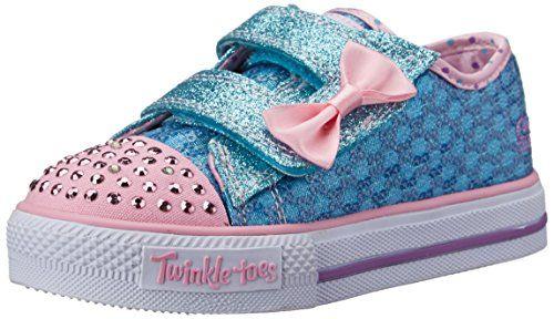 Skechers Kids Twinkle Toes Shuffles Sweet Steps Light-Up  Sneaker,Turquoise/Pink,8 M US Toddler Skechers Kids http://www.amazon.com/dp/B00UXKC4DI/ref=cm_sw_r_pi_dp_4XwVvb0QTZA07