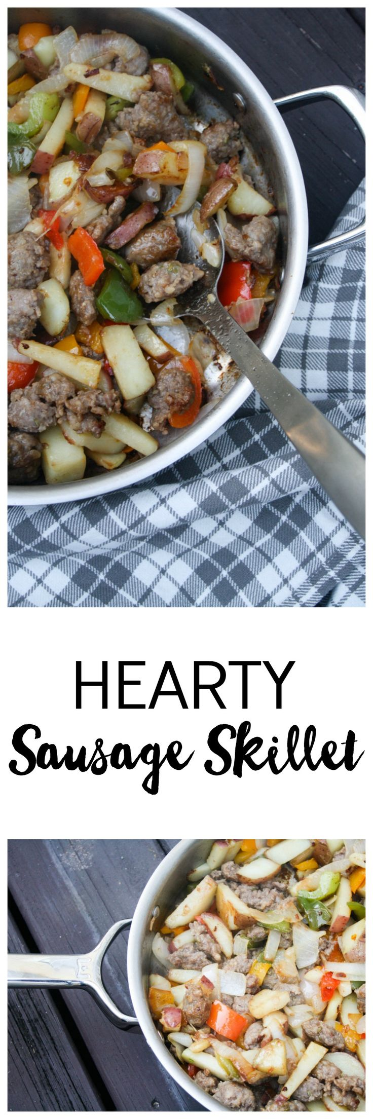Try this easy, healthy dinner idea tonight! Hearty Sausage Skillet requires only a few minutes of prep work and is ready in under 30 minutes. This flavorful dish is going to be a hit with your family!