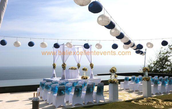 white and blue lantern