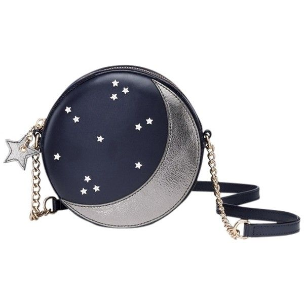 Pre-owned Kate Spade Lido Ave Micha Leather Evening Navy Moon Blue &... ($145) ❤ liked on Polyvore featuring bags, handbags, shoulder bags, cross body purse, evening shoulder bag, evening handbags, cross body handbags and evening bags