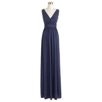 Helene long dress in liquid jersey - Imperial blue
