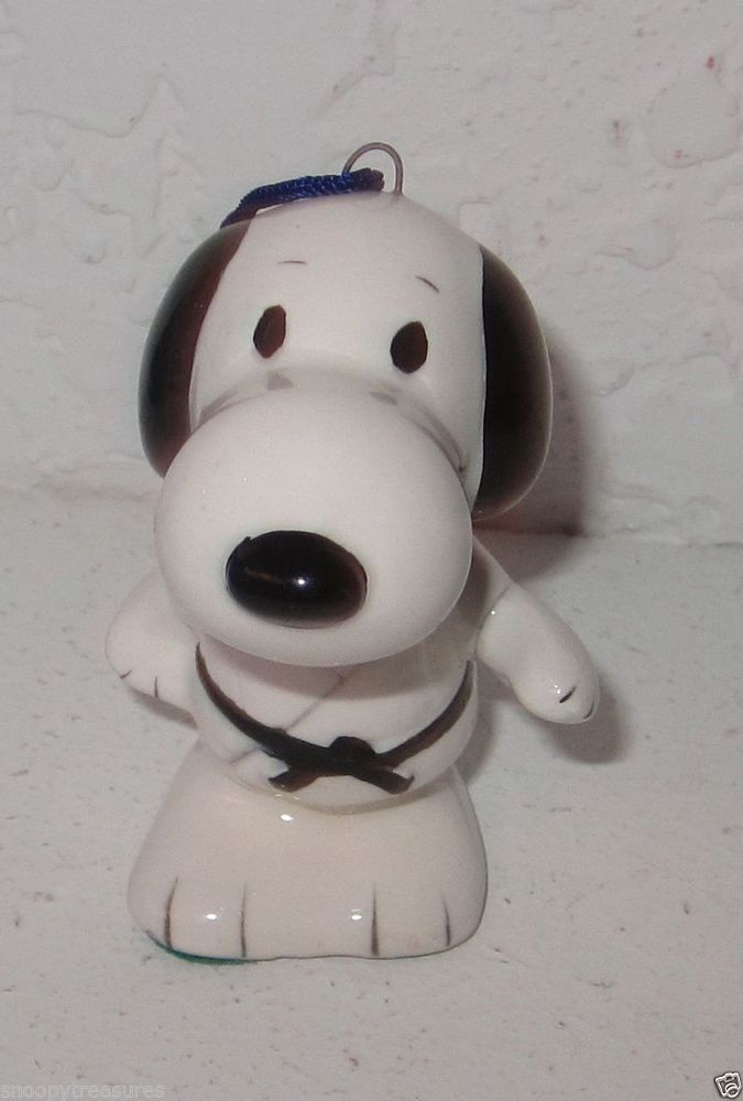 Snoopy Ceramic Ornament By Determined Judo Japan Rare