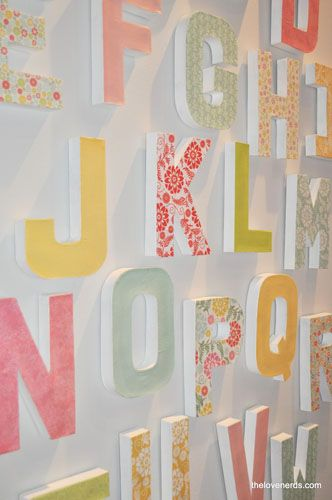 paper covered card board letters-- I also want to do a version of Merry Christmas one of these days, too