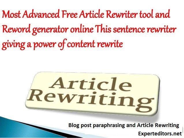 Paraphrasing Rewriting Service Content Article Essay Blog Post Online Paraphrase English Generator
