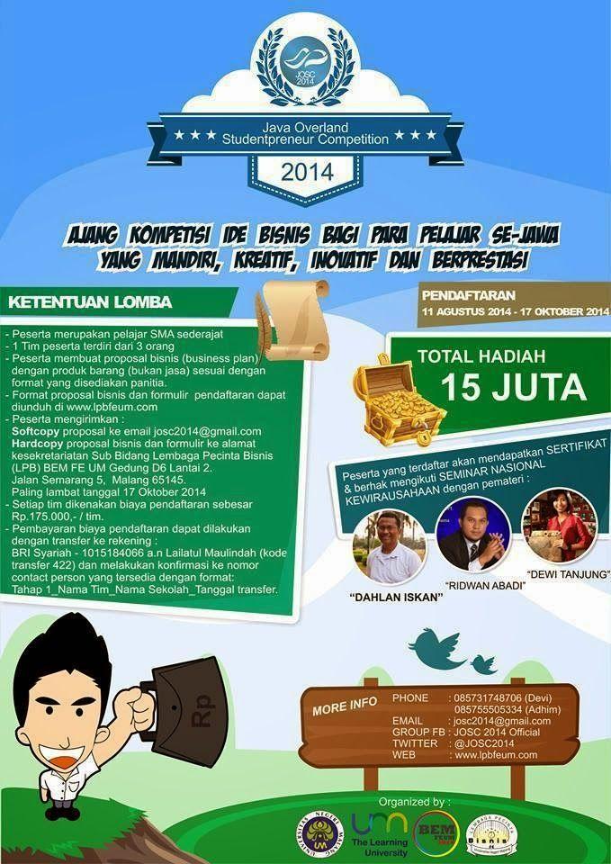 Info lomba business plan