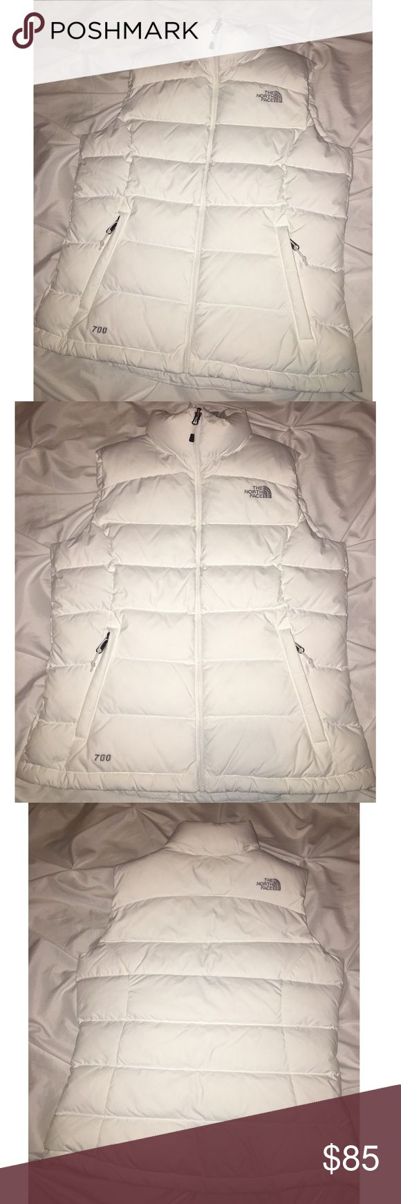North Face Down Puffer Vest Brand: The North Face Size: M Material: Down  Color: Arctic White Condition: NWOT The North Face Jackets & Coats Vests