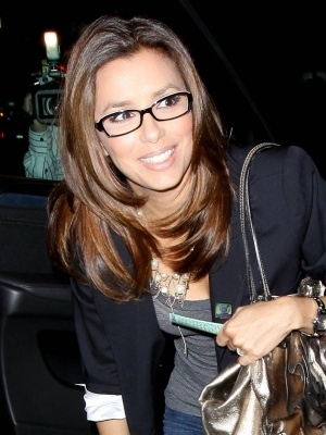 No desperate housewife here....she looks fab in these specs.