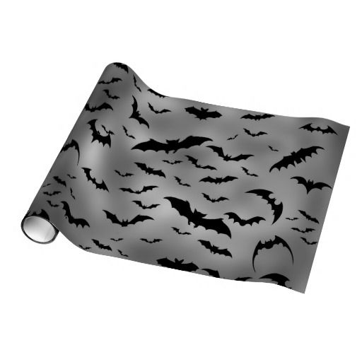 Halloween Bats Holiday wrapping paper
