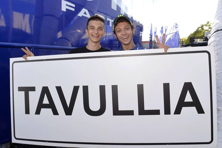 Vale in and his brother Luca in Misano