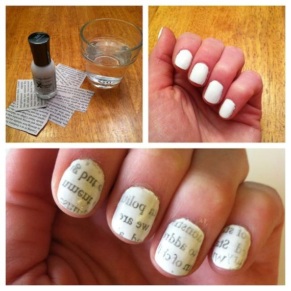 The newspaper manicure. Will you try it? COMMENT below.    (Then get the how-to on our blog: http://rue.la/X9AhBU) — with Elisa Arzuaga Mckinney.