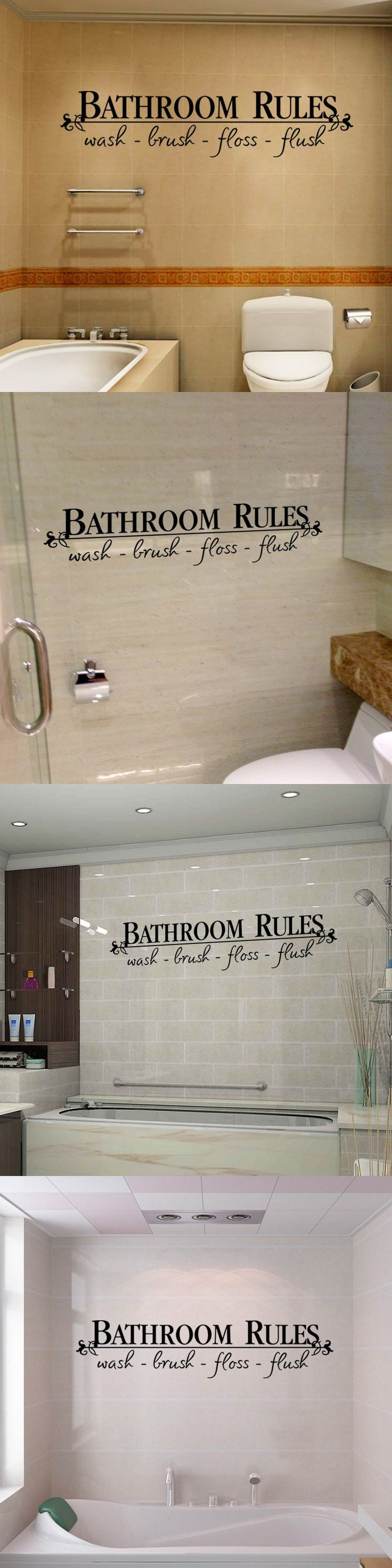 creative bathroom wall stickers waterproof removable vinyl wall art decal stickers home decorative bathroom english quote decals