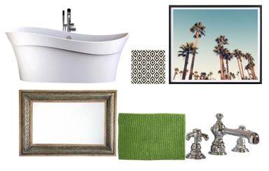 Bathroom mood board from Grit & Flair blog