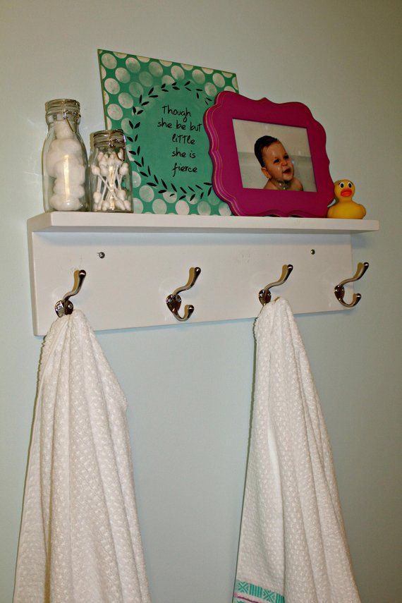 white towel rack with hooks bathroom