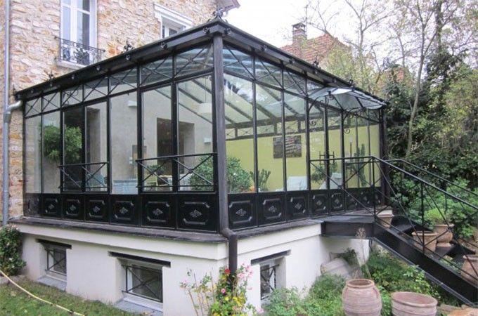 Véranda acier style ancien Architecture Pinterest Architecture - Brique De Verre Exterieur Isolation