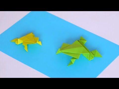origami facile grenouille sauteuse youtube. Black Bedroom Furniture Sets. Home Design Ideas