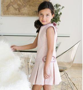 -NUEVO- Vestido niña ceremonia rosa talle bajo | Aiana Larocca