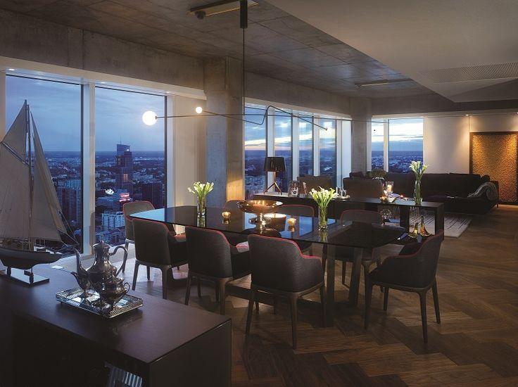 ZŁOTA 44 building #architecture #Złota44 #design #Warsaw #Poland #WoodsBagot #interior #apartment #livingroom