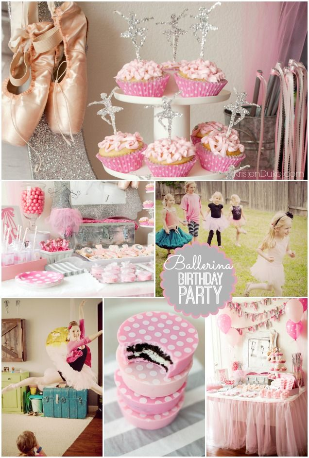 Ballerina Dance Birthday Party - ideas for decor, entertainment, food, and games by KristenDuke.com