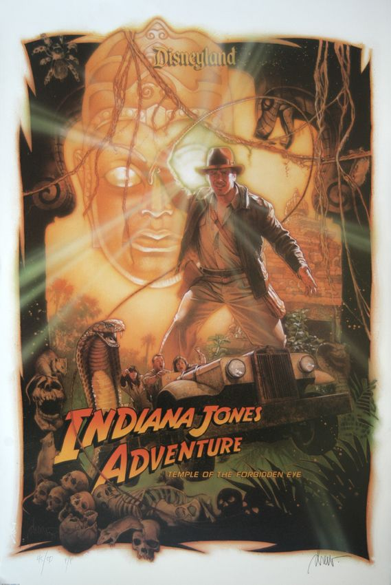 Drew Struzan, Indiana Jones Adventure art for Disneyland