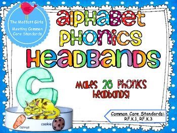 Alphabet Phonics HeadbandsThese alphabet phonics headbands are a super cute and super FUN way to practice all the alphabet letters and the phonics sounds they make.  Students can color in the letter and the pictures to reinforce sounds for each letter.