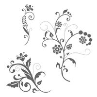 Flowering Flourishes Clear-Mount Stamp Set 17.95