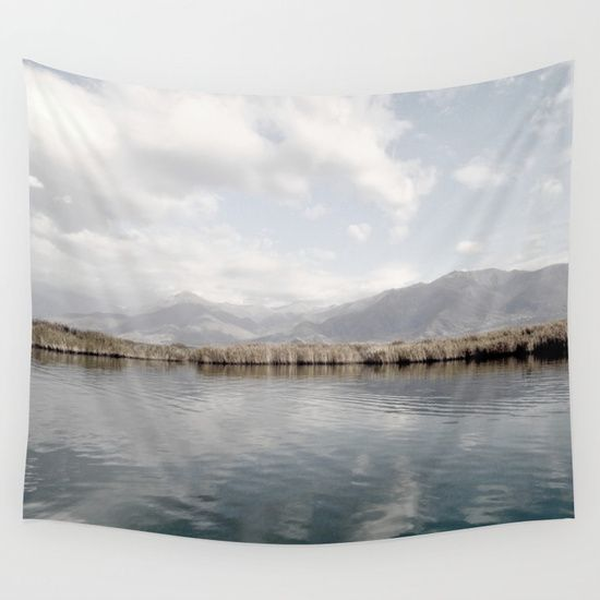 Lake Of Tranquility Wall Tapestry by ARTbyJWP from Society6 #walltapestry #wallhanging #walldeco #homedecor #landscapes Available in three distinct sizes, our Wall Tapestries are made of 100% lightweight polyester with hand-sewn finished edges. Featuring vivid colors and crisp lines, these highly unique and versatile tapestries are durable enough for both indoor and outdoor use. Machine washable for outdoor enthusiasts, with cold water on gentle cycle using mild detergent.