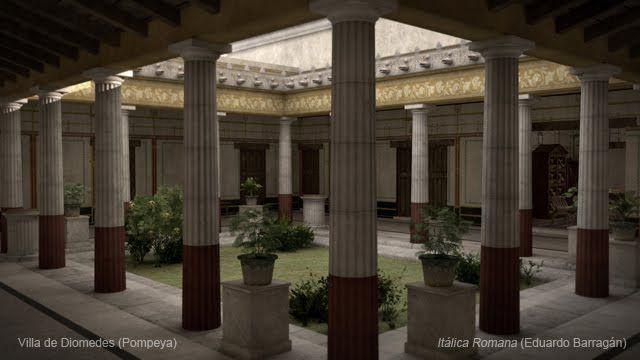 interior de la villa de diomedes. pompeya  Roman Art  Pinterest  Villas, I...