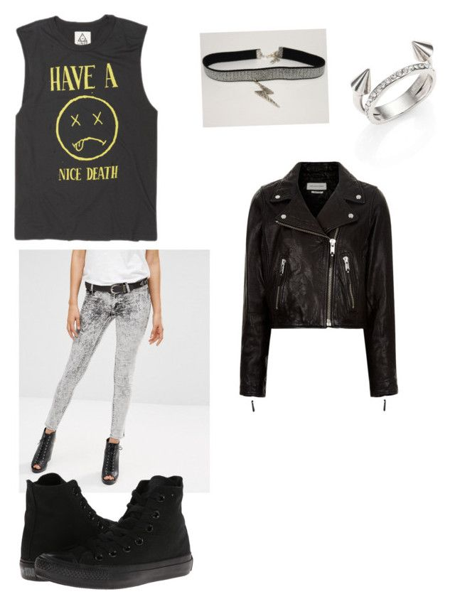 """""""Punk"""" by secondaryterror on Polyvore featuring Cheap Monday, Vita Fede, Converse and Étoile Isabel Marant"""
