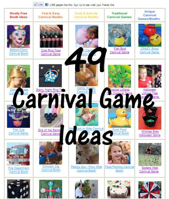 Oooodles of Carnival Game and Booth Ideas!