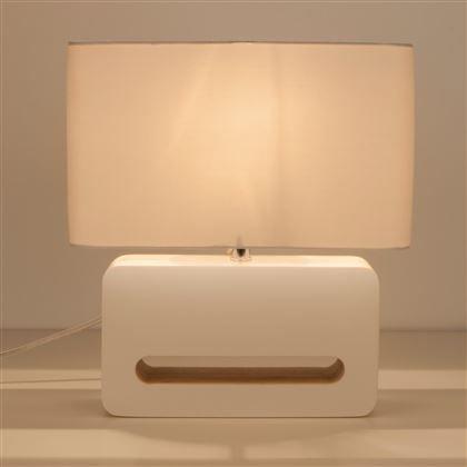 Tafellamp wood geeft mooi licht in een vergeten hoekje of op de tafel. De hoogglans basis past mooi bij de strakke stoffen kap en geeft niet enkel mooi licht, maar staat ook te pronken als designitem in huis. Uitgevoerd in twee kleuren.