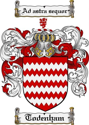 Todenham Coat of Arms Todenham Family Crest Instant Download - for sale, $7.99 at Scubbly