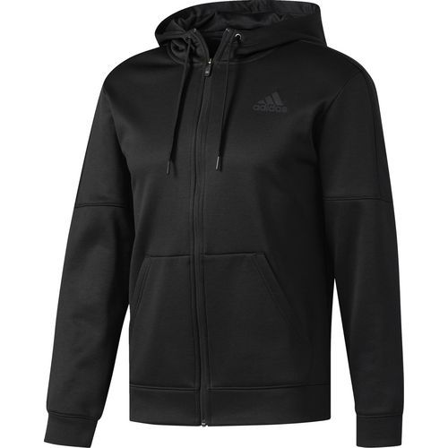 Adidas Men's Team Issue Fleece Full-Zip Hoodie (Black, Size Small) - Men's Athletic Apparel, Men's Athletic Fleece at Academy Sports