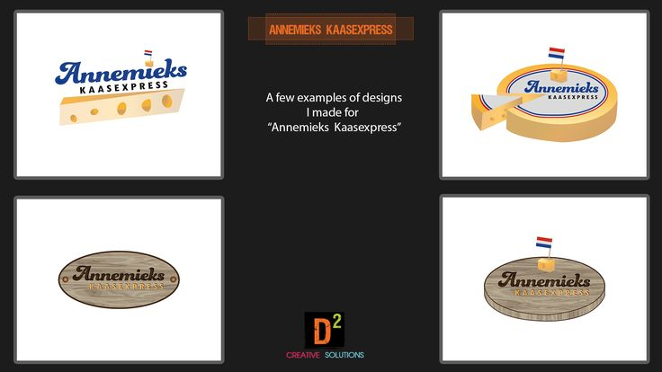 """Some logo designs I made for a design competition by """"Annemieks Kaasexpress"""""""