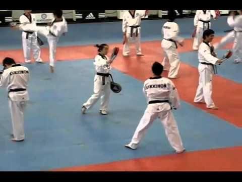 KUKKIWON KOREAN TAEKWONDO CLASS. - YouTube