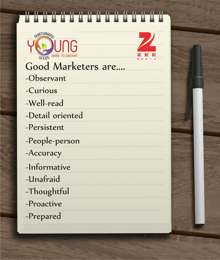 """""""Good #Marketers have many qualities as they wear a variety of hats for their job role, a few of these qualities are that they are: -Observant -Curious -Well-read -Detail oriented -Persistent -People-person -Accuracy -Informative -Unafraid -Thoughtful -Proactive -Prepared But along with these qualities, they possess two most basic and...... Read more at:https://www.facebook.com/817593658262558/photos/a.825159097506014.1073741828.817593658262558/1266713823350537/?type=3&theater"""