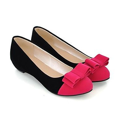 Womens Pink Professional Office Leather Flat Canvas Shoes