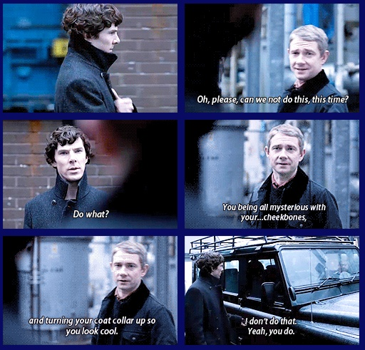Oh, you have GOT to love Sherlock.  I love that part, especially when he puts it down when John tells him to look friendly for the little girl.