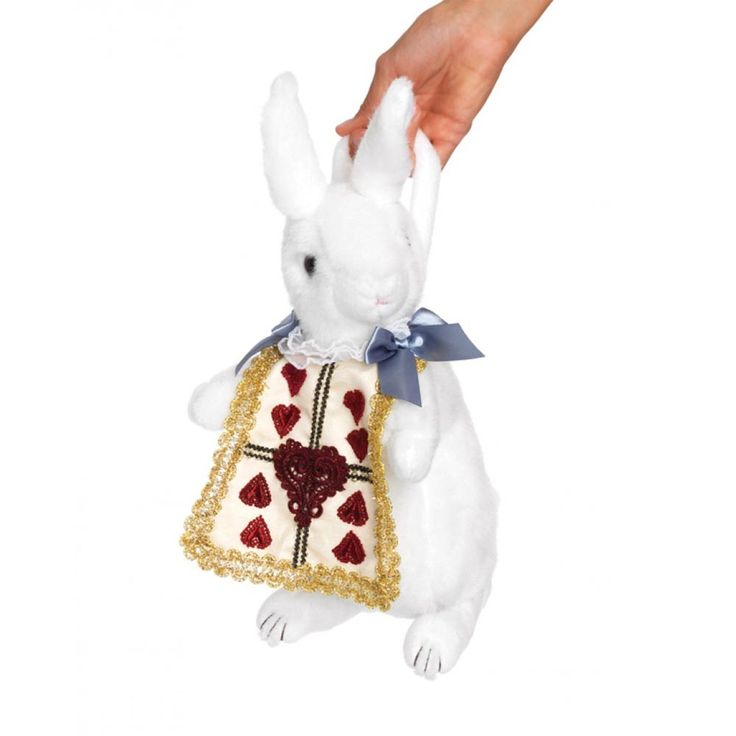 Wonderland konijn pluche portemonnee tas wit - Kostuum Party Halloween
