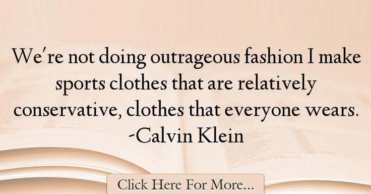 Calvin Klein Quotes About Sports - 63927